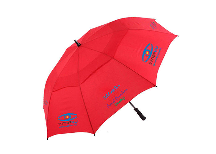 190T Pongee Portable Rain Umbrella Auto Open Branded Golf Umbrella